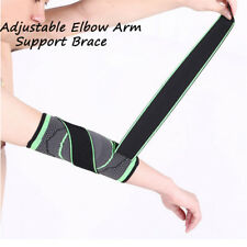 Adjustable Elbow Arm Support Brace Weaving Compression Strap Protect Gym Sport B