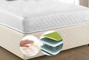 QUALITY 4FT6 Double Memory Foam Spring Mattress