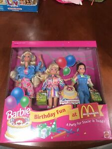 BARBIE BIRTHDAY FUN AT MCDONALDS FOR STACIE AND TODD
