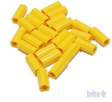 Tecnologia LEGO - 25 x baccello giallo/Connettori/AXLE Connector/6538c Merce Nuova