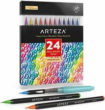 ARTEZA Real Brush Pens, Colors, Set of 24