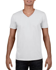 MENS 100% V NECK COTTON T-SHIRT GILDAN Plain V Neck T SHIRT: Small - 2XL