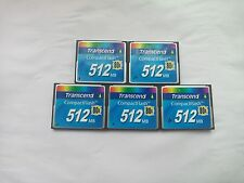 5PCS   Transcend 512MB 80X CF Compact Flash Card