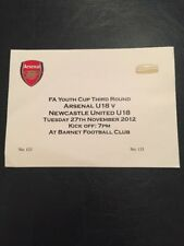 Billet: Arsenal et Newcastle United 27/11/2012 Youth Cup
