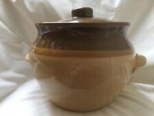 T G Green GRANVILLE Large 14 cm Lidded Storage Pot Casserole Brown vintage 1970s