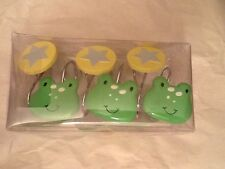 Tiddliwinks Froggie Shower Curtain Rings NWT stars and frogs new
