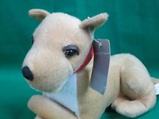 NEW BROWN WHITE GREAT DANE PUPPY DOG RED COLOR GUARD DOG PLUSH STUFFED ANIMAL