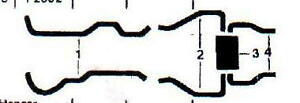 1963 BUICK LESABRE & WILDCAT DUAL EXHAUST SYSTEM, ALUMINIZED WITHOUT RESONATORS
