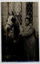Donna con Cavallo Hirse Lady RP PC Vera Foto Circa 1920 France