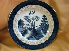 IRONSTONEWARE OCCUPIED JAPAN WILLOW PLATE GILDED