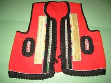 Antique Old Authentic Folk Traditional Handmade Ethno Kosovo Women's Vest