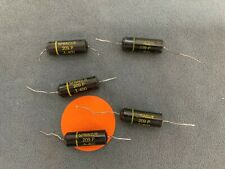 QTY 5 Sprague Black Beauty Capacitors .1uf 400V Sencore LC102 Tested Long Leads
