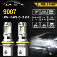 2X AUXITO 9007 HB5 LED Headlight Kit Hi Lo Beam 6500K Super White Bulbs 12000LM