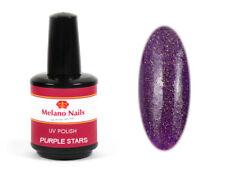 UV Polish Gel UV LED Nagellack Gellack Soak Off 15 ml Purple Stars