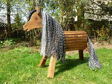 70cm Holzpferd Wind Holzpony Voltigierpferd Spielpferd  Pony  wetterfest NEU