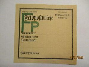 Army Postal Service Vorbindezettel For Feldpostbriefe Unused (41980)