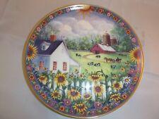 Danbury Mint Plate Sunflower Farms By Mary Ann Vessey 1995 # A262