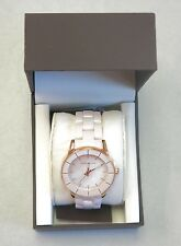 Anne Klein AK1360RGLP Rose Gold-Tone Pink Ceramic Watch NEW! 29621