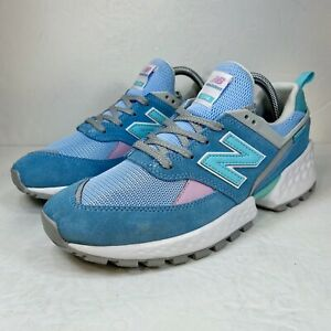 New Balance 574 Sport Mens Blue Green Running Sneakers Shoes Size 7 GS574SF