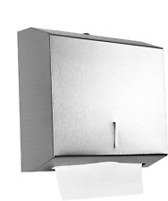 Gonioa Wall-Mounted Comercial Paper Towel Dispenser, Brushed Stainless Steel Bat