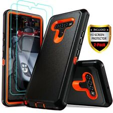 For LG Stylo 6/5/4 Case Heavy Duty Shockproof Armor Cover+Glass Screen Protector