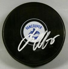 JACOB MARKSTROM Signed VANCOUVER CANUCKS HOCKEY PUCK 1007063