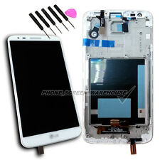 LCD Display Touch Screen Digitizer Lens For LG G2 D802 Frame Replacement White