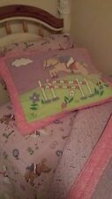 PB Teen Pink/Purple Horse Comforter Set for Twin Bed