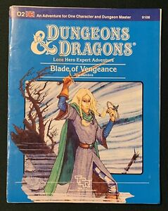 Dungeons & Dragons — Module O2: Blade of Vengeance — TSR 9108 — 1984 — Good Cond