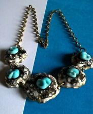 Vintage Collier Email Emaux d'Art Signé / Enamel Necklace