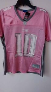 Reebok Women's NFL Jersey Titans Vince Young Pink sz M