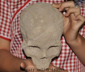Tibet Tibetan Reli Relic bone Skeleton Devil Skull death-head Exorcism statue