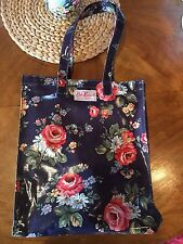 CATH KIDSTON Large Navy Floral PVC Tote Bag HandBag *Brand New Without Tags $80