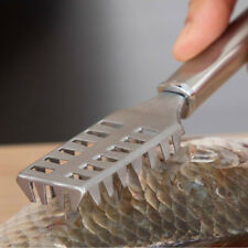 Stainless Steel Fish Scale Remover Cleaner Scaler Scraper Kitchen Peeler Tool B