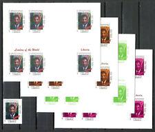 Stamp + 4 Imperf Blocs MNH Michel 3354 Liberia President Charles Chankay Taylor