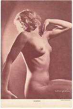 Harmonie, photo signée COMPAL / SCHOSTAL héliogravure Nu artistique vers 1930