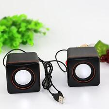 1 pair Mini 3.5mm Wired Desktop Laptop Speakers Multimedia USB Computer Speaker