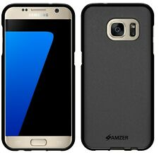 AMZER Black Pudding Matte TPU Case Back Cover For Samsung GALAXY S7 SM-G930 5.1""