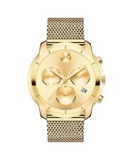New Movado Bold Gold Dial Mesh Bracelet Mens's Watch 3600372