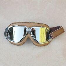 Gafas/Googles/Brille BANDIT marrón simil cuero con cristales espejados