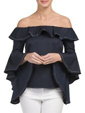 INA Ruffle Bell Sleeve Off the shoulder Top Size Large