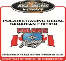 POLARIS RACING DECAL CANADIAN EDITION , sticker graphic