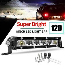 Slim 8inch Cree Led Work Light Bar Spot Offroad Atv Fog Truck Lamp 4wd 12v 10
