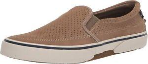 Sperry Top-Sider Halyard Slip-On Memory Foam Sneakers Men's Size 8.5 Tan Suede
