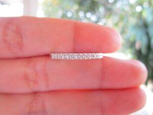 .24 CTW Diamond Half Eternity Ring PLATINUM HE38 sep **