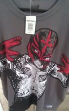 Rey MYSTERIO RESPECT THE MASK MEN Grey X-Large T-SHIRT NEW W/TAGS Hot Topic WWE