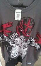 Rey MYSTERIO RESPECT THE MASK MEN Grey X-Large T-SHIRT NEW Hot topic WWE