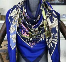 100% twill silk scarf 130cmx130cm, pretty floral design. Packed in zipper bag