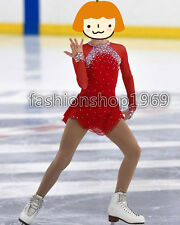 New  Ice Figure Skating Dress  Figure skaitng Dress red  For competition xx291
