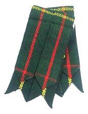 Hombre Kilt Hose Calcetines Bandas Caza de Cuadros Estilo Escocés Liguero